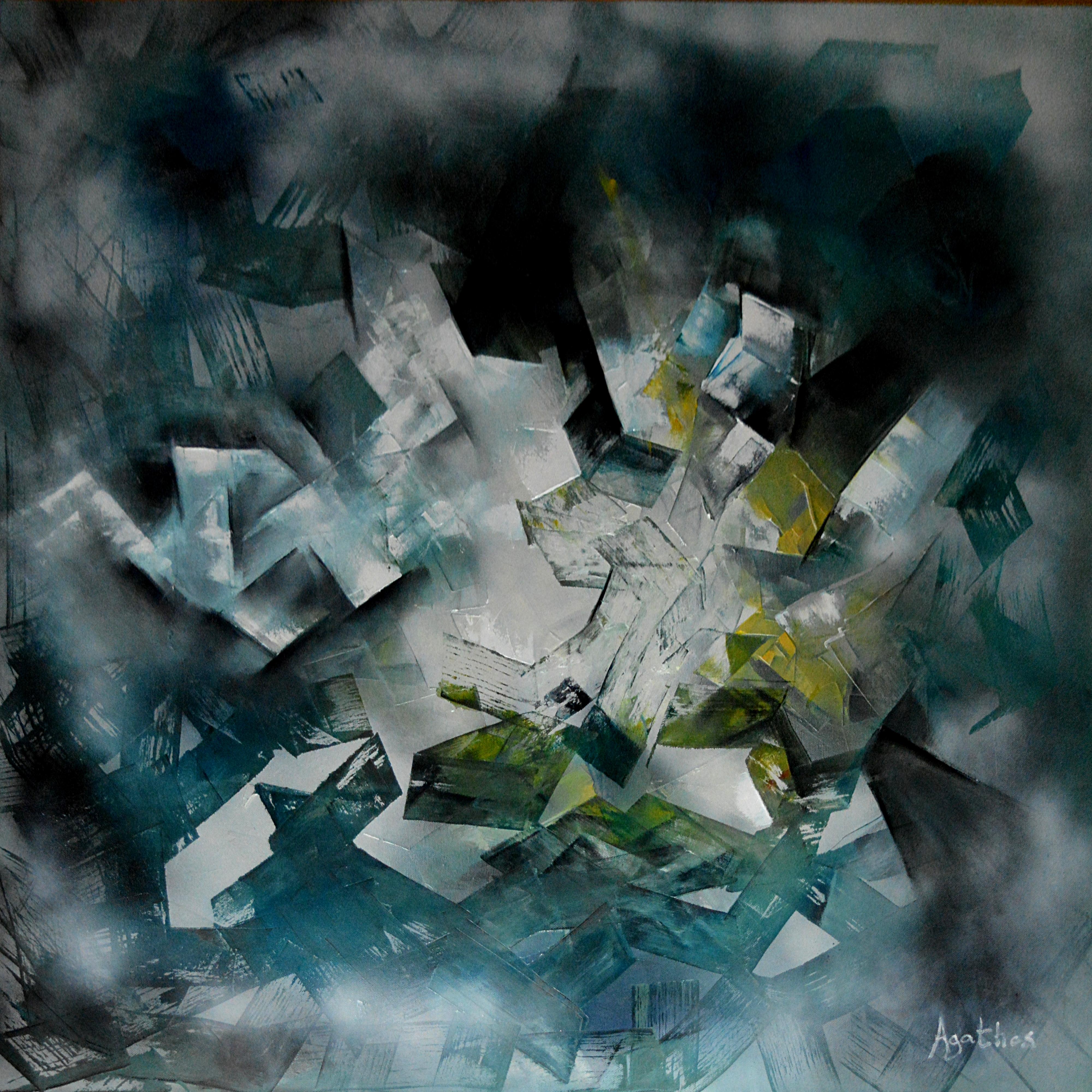 Intorno transgeometrico - olio su tela 100x 100 cm - 2017