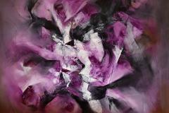 Adimensional Universe - olio su tela - 80x80cm - 2017
