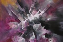 Cubi Transgeometrici - olio su tela - 80x80 cm - 2017