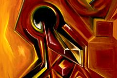 MOVIMENTO PROSPETTICO - OLIO SU TELA - 80X100 - 2012
