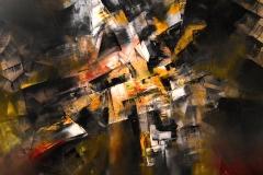Spazio 10 - olio su tela - 70x80 cm - 2017